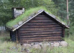 Norsk Folkemuseum, august 2010. Smie fra husmannsplassen Sag