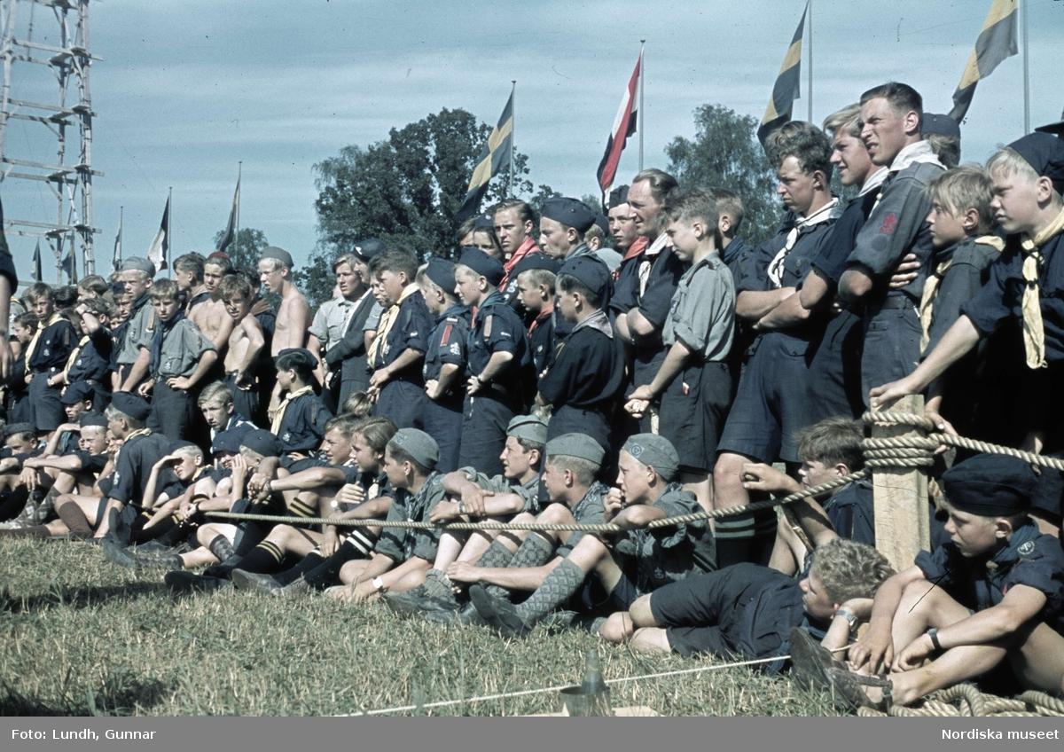 Scoutläger i Tullgarn.