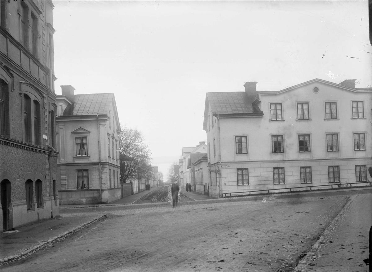 Götgatan - Skolgatan, Luthagen, Uppsala 1908