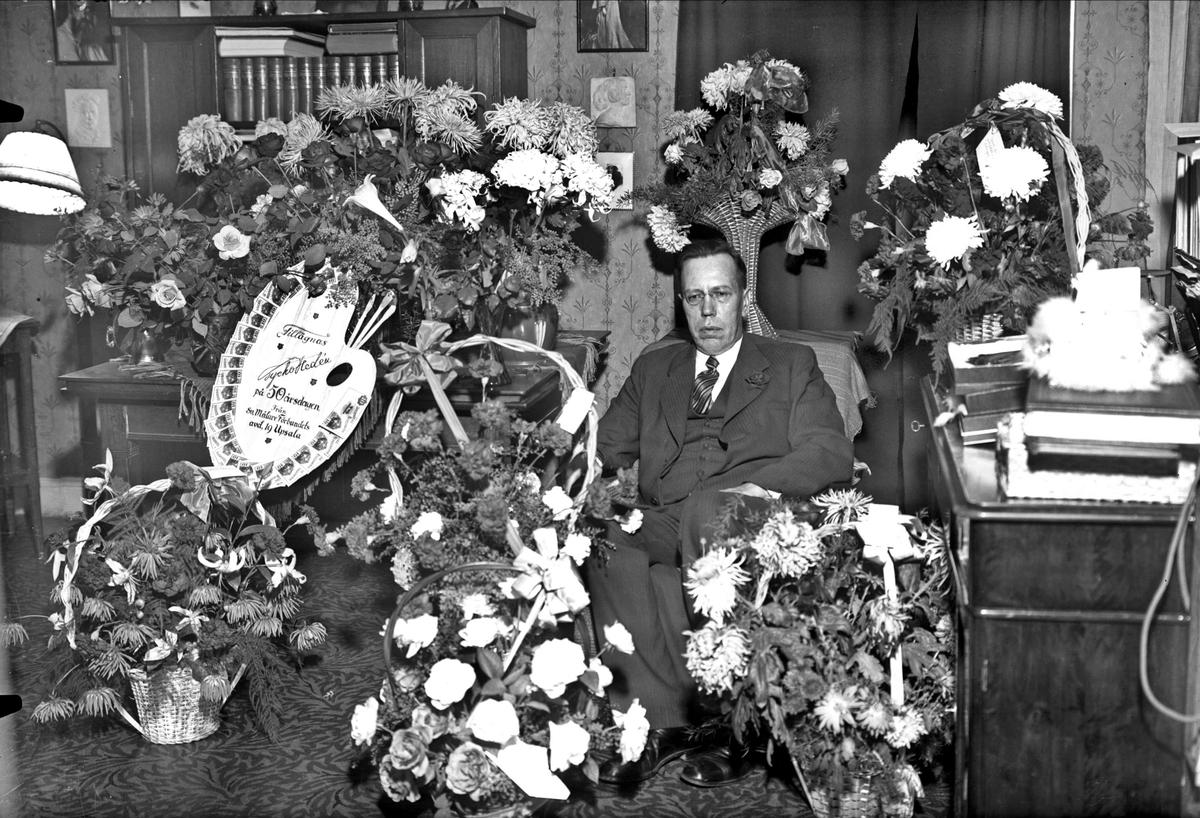 Födelsedagsporträtt - politiker Tycho Hedén fyller 50 år, Uppsala 1932