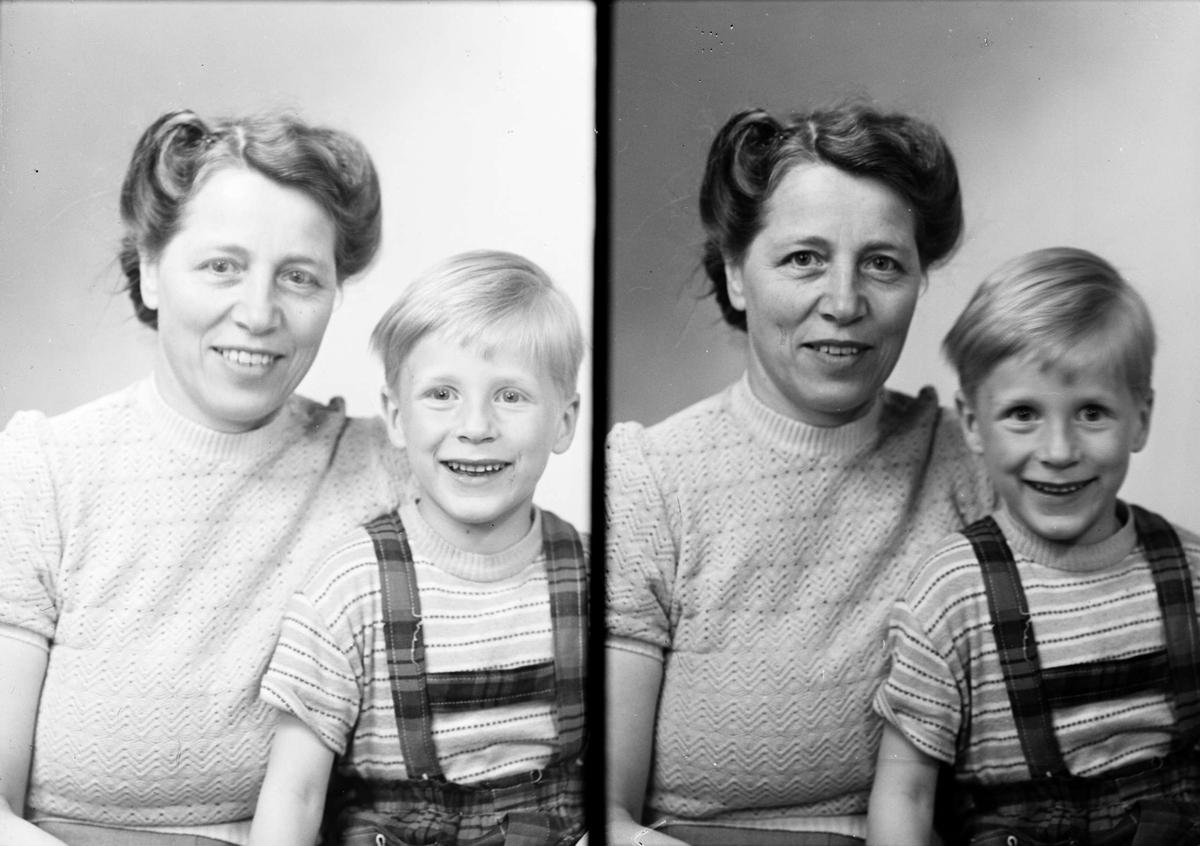 Ateljéporträtt - kvinna och pojke, Uppsala