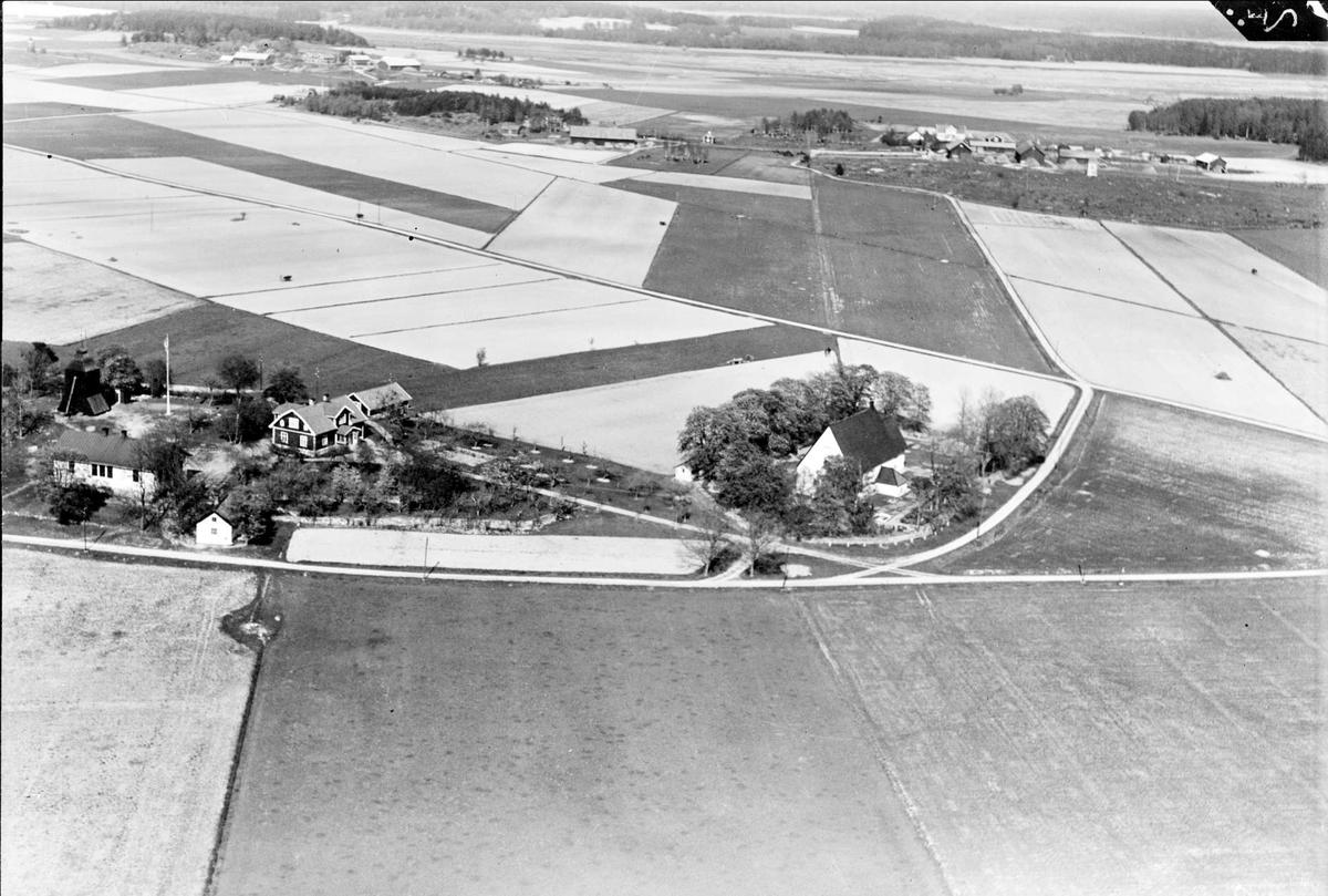 Flygfoto över Löt, Löts socken, Uppland 1936