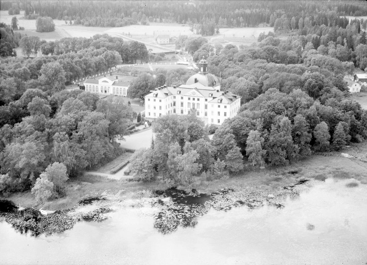 Flygfoto över Örbyhus slott, Vendels socken, Uppland 1947