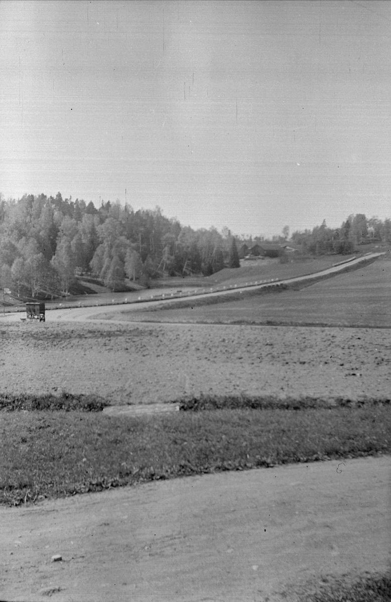 Vy över Högsveden, Ytterkvarn, Österunda socken, Uppland 1940 - 50-tal