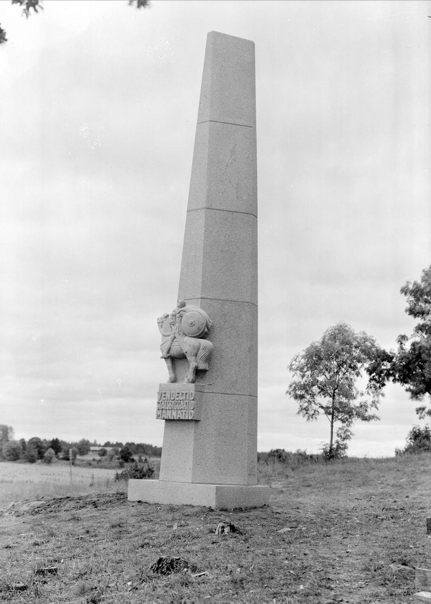 Vendelmonumentet, Vendels socken, Uppland augusti 1937