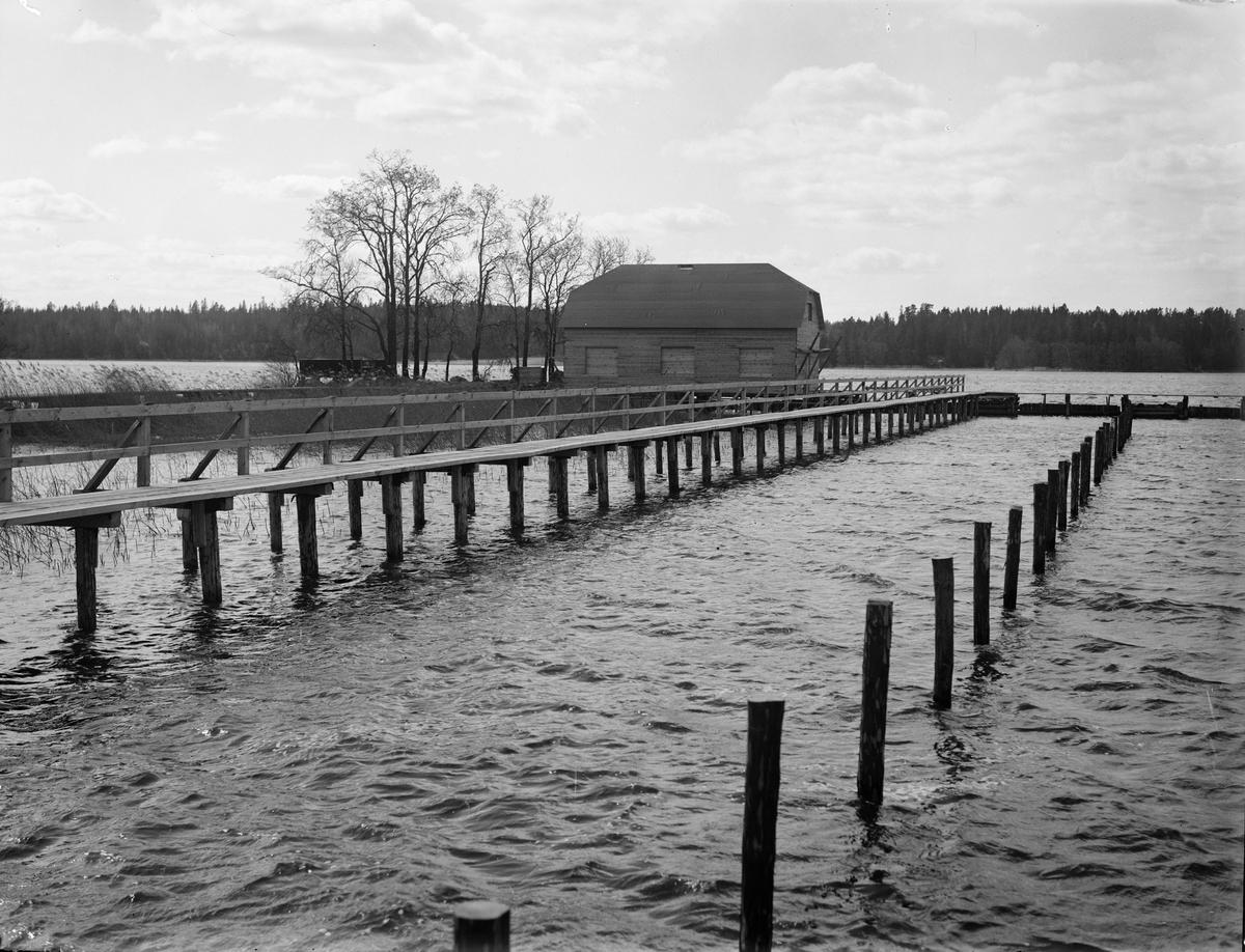 Ekolns Segelklubbs föreningslokal under byggnation, Skarholmen, Sunnersta, Uppsala juni 1933