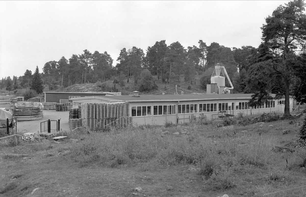 Snickeriverkstad, Åby, Funbo socken, Uppland 1982