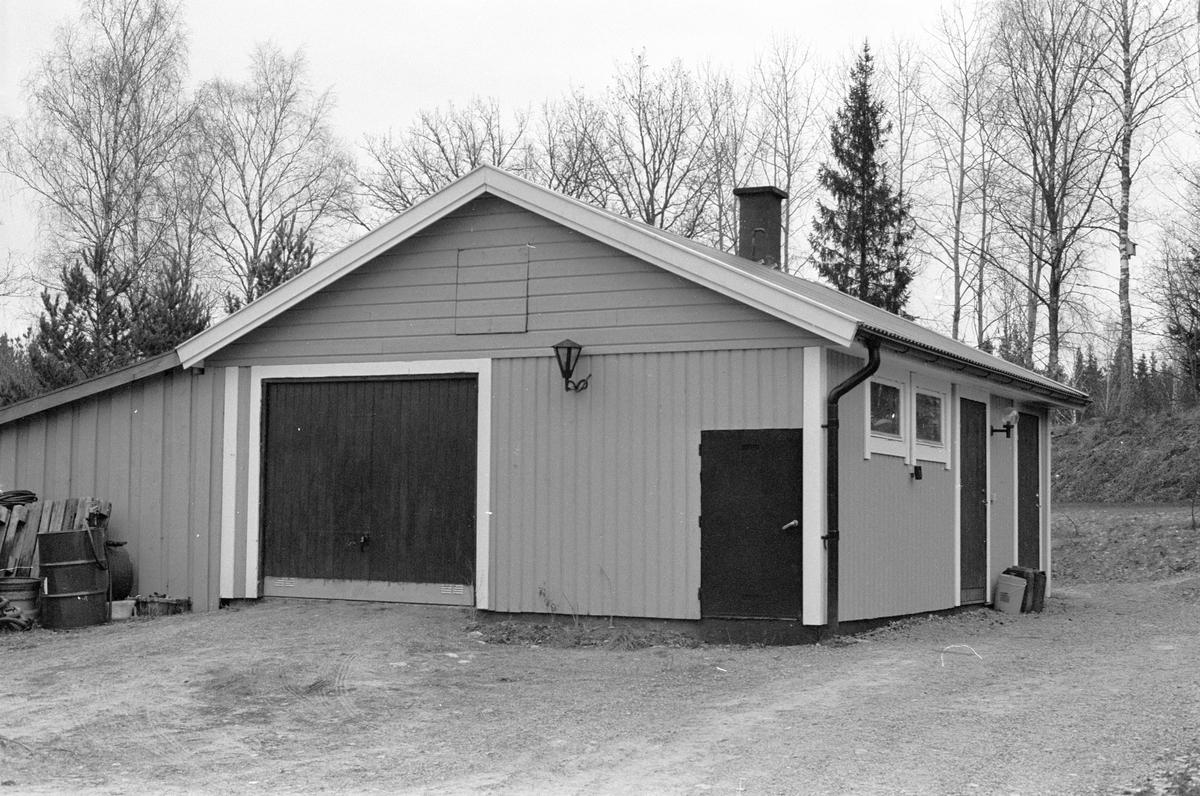 Garage, Hagby-Forsa 4:6, Forsa, Hagby socken, Uppland 1985