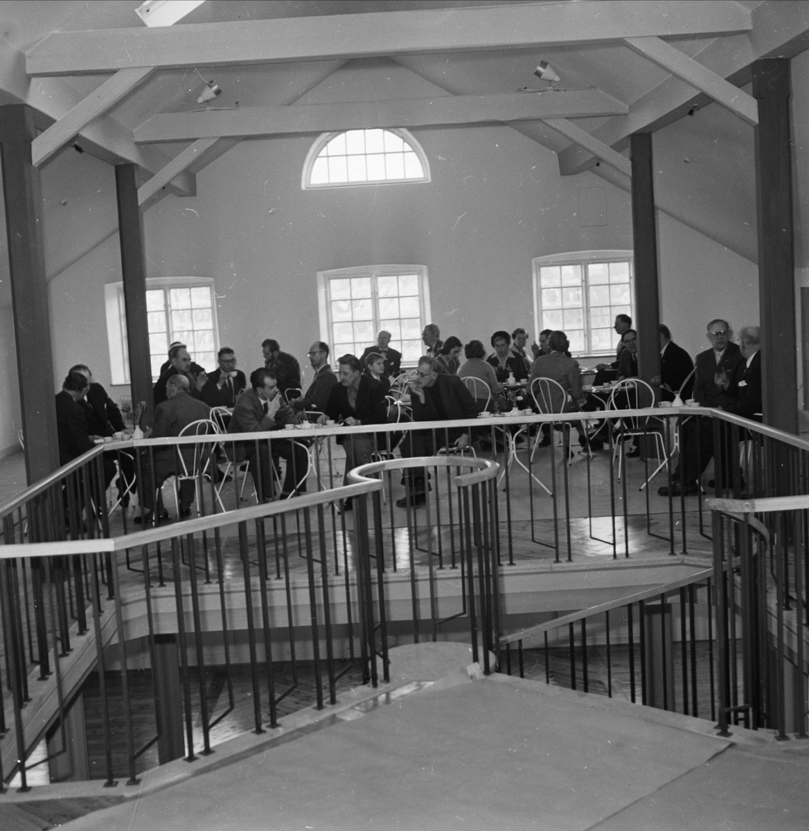 Pressvisning av Upplandsmuseet i Akademikvarnen, Uppsala februari 1958