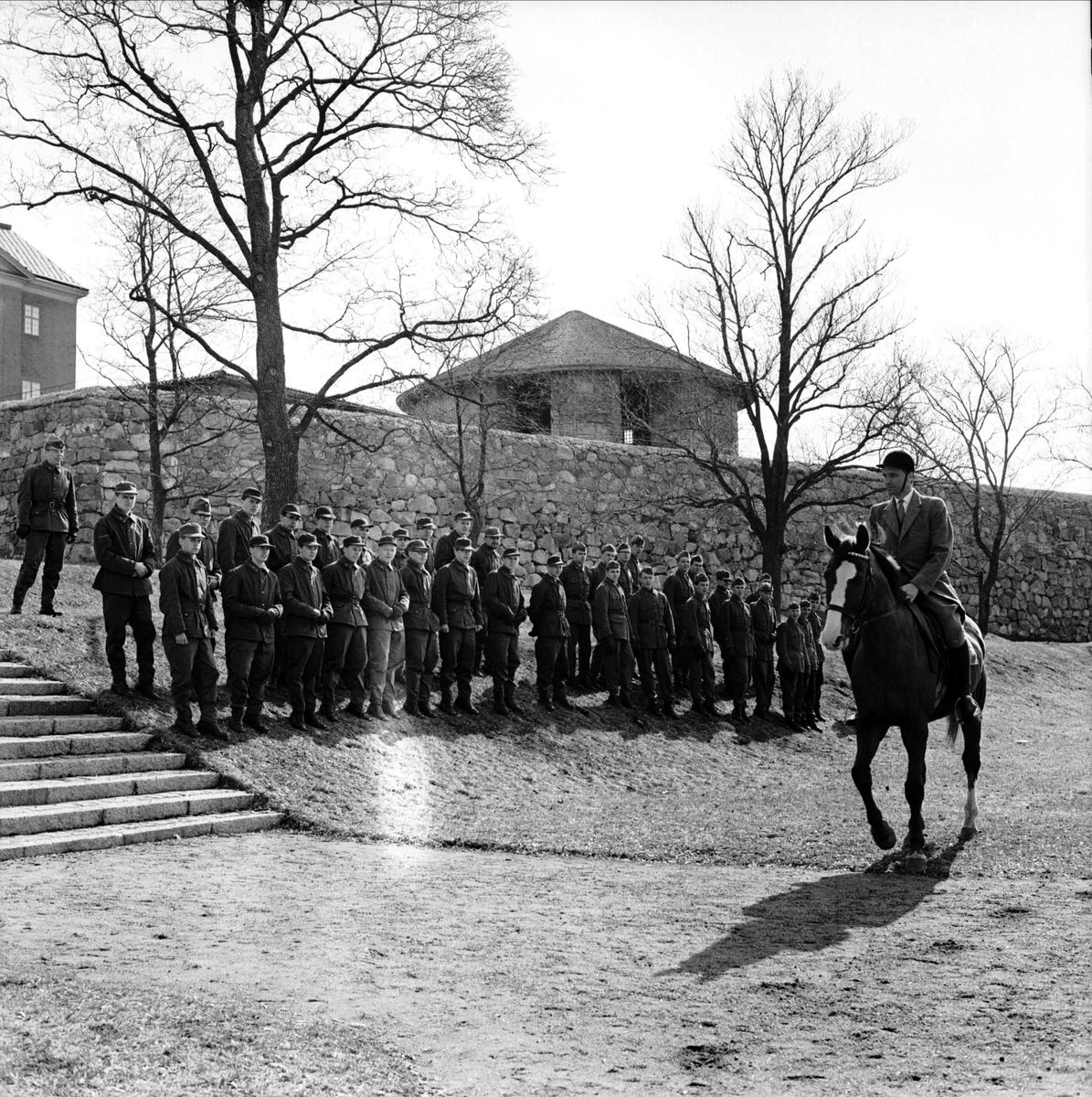 Erik XIV Sommarteater - scen med militärer, Uppsala 1963