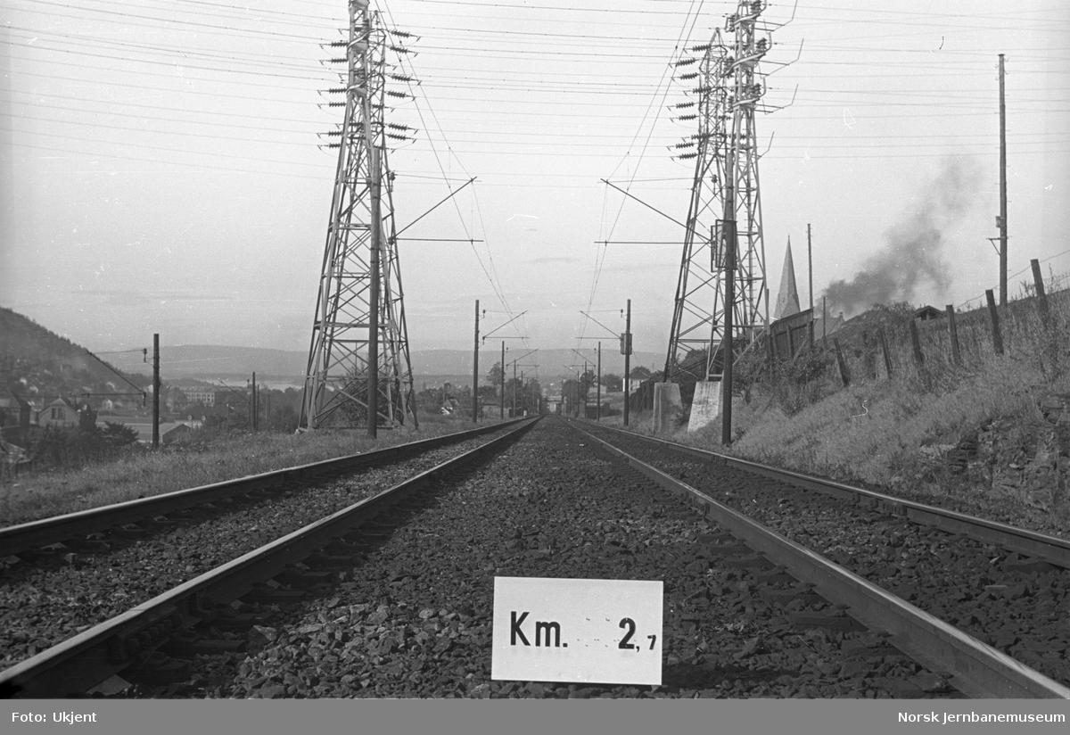 Hovedbanen : linjeføring km 2,7