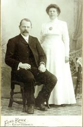 Brudebilde av John og Anna Seland. Grindheim Audnedal.