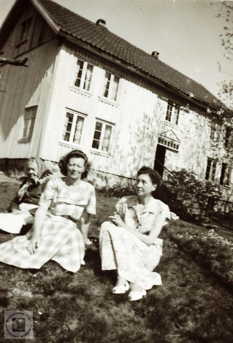 Søstre og mor på Hårtveit. Grindheim Audnedal.