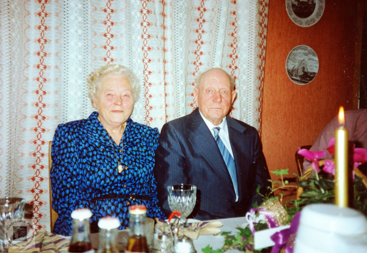 Gullbrudeparet Martha og Johan Valand.