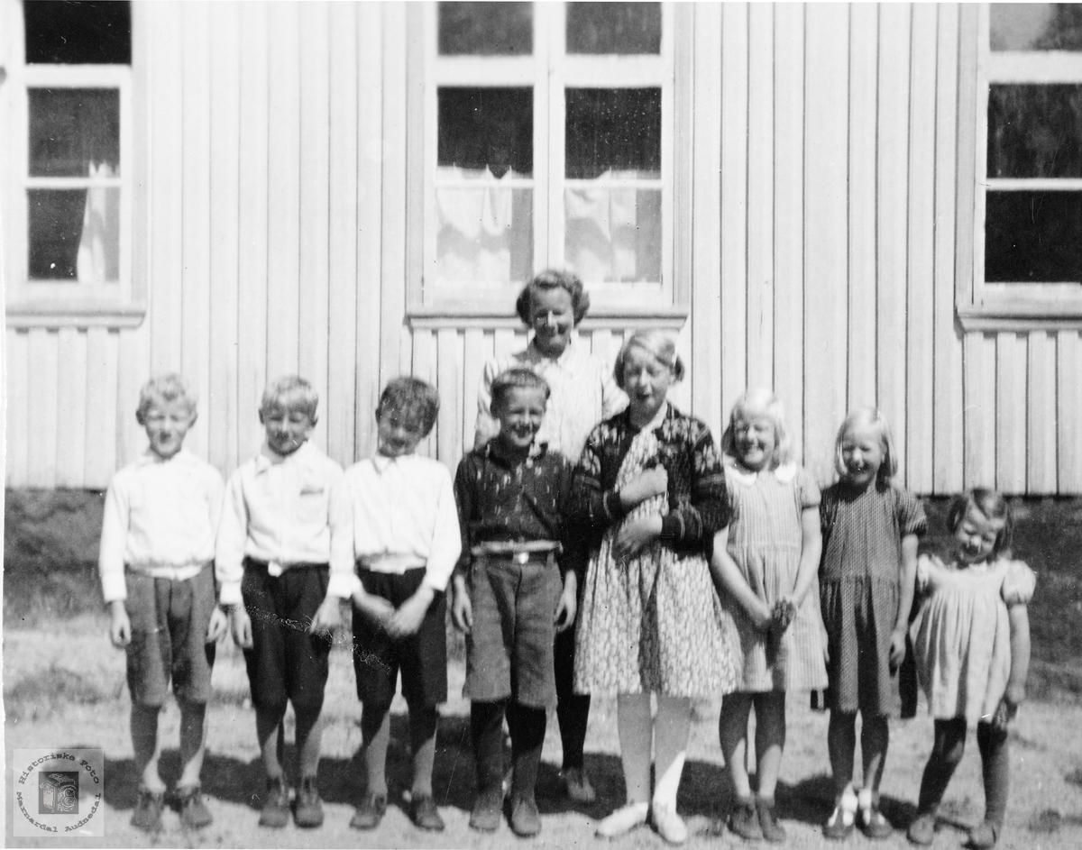 Klassebilde fra Håland skole. Grindheim.