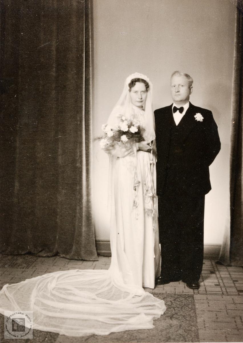 Brudebilde av Oline Sofie og Simon Valand. Konsmo.
