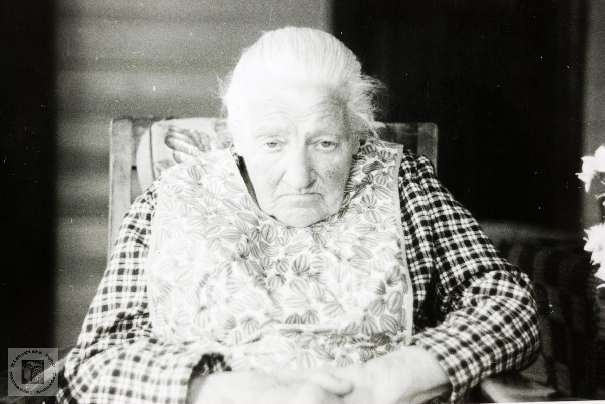 """Portrett av """"bestemor"""" Randi Øydna. Grindheim."""