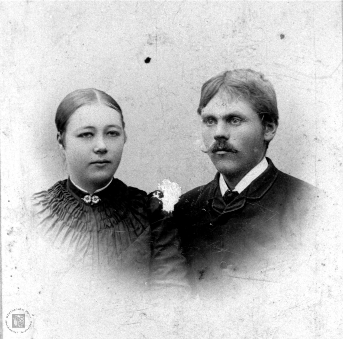Portrett av ekteparet Tomine og Kjetil Roland, Bjelland.