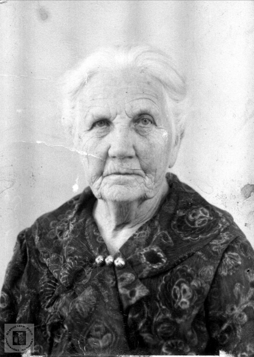Portrett av Aasa O. Røynesdal. Norges første kvinnelige ordfører.