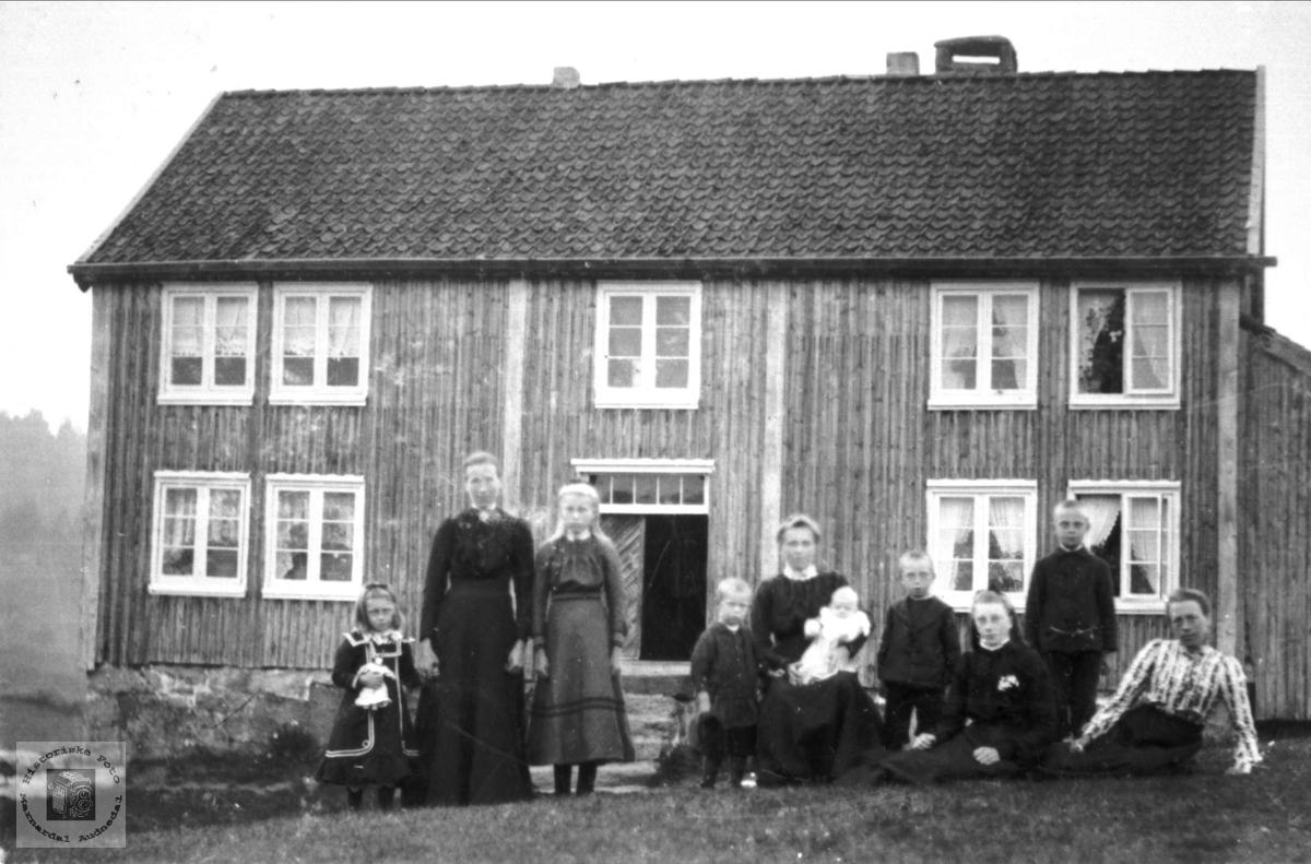 Familiebilde fra Der oppe, Øvre Abelseth i Bjelland.
