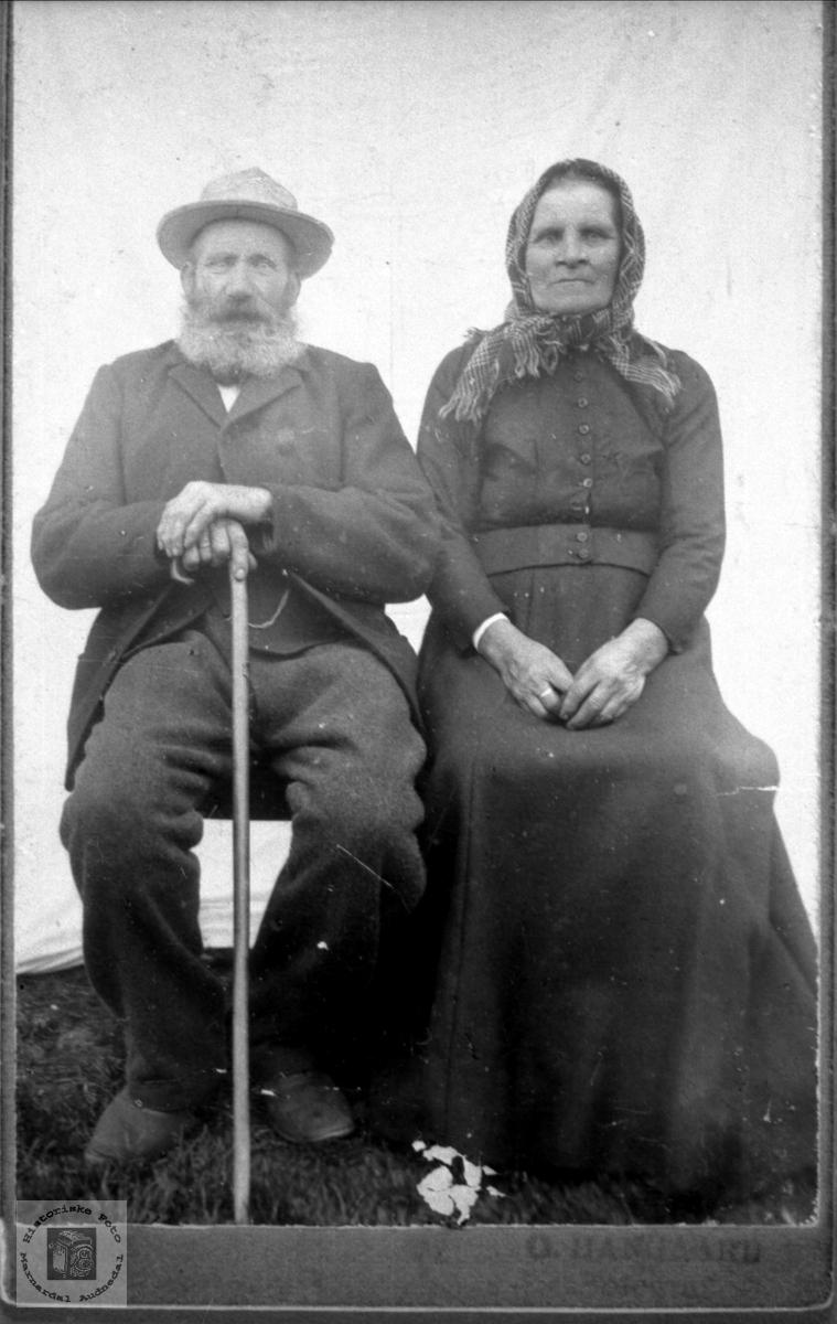 Ekteparet Reier og Mari Abelseth, Bjelland..