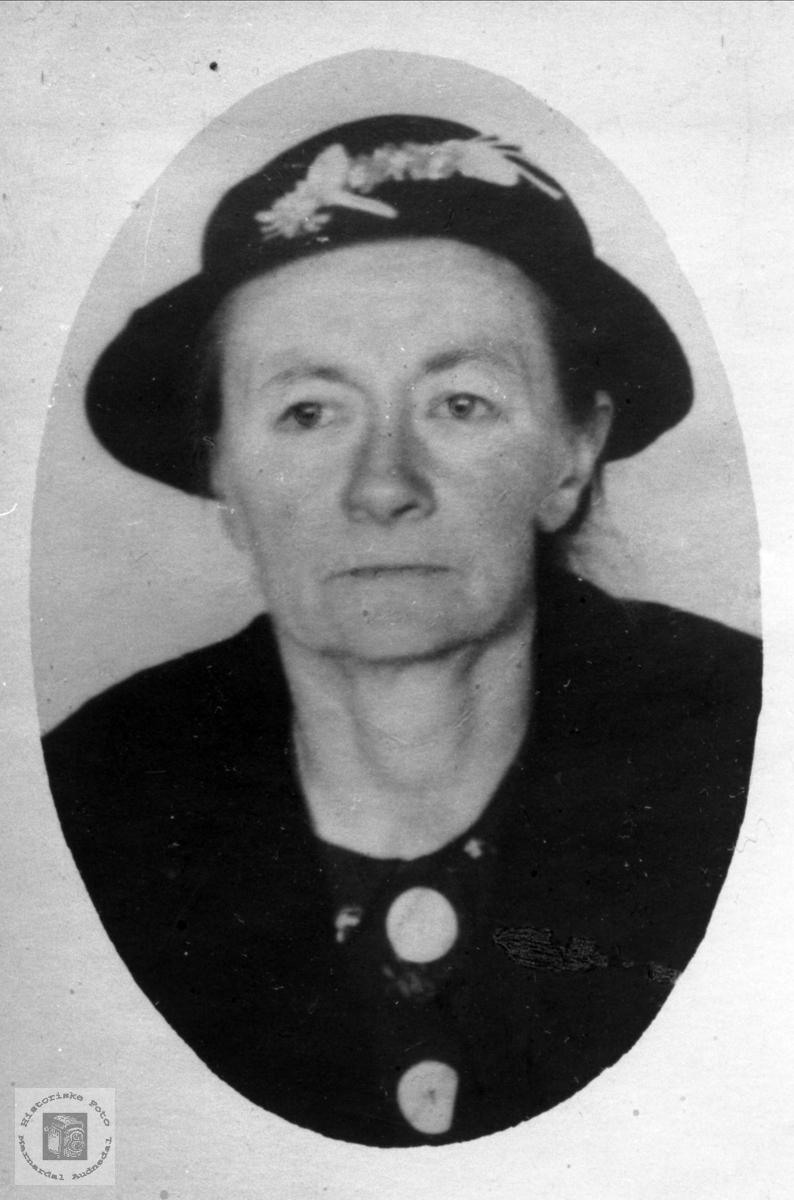 Portrett av Guri Ask, Bjelland.