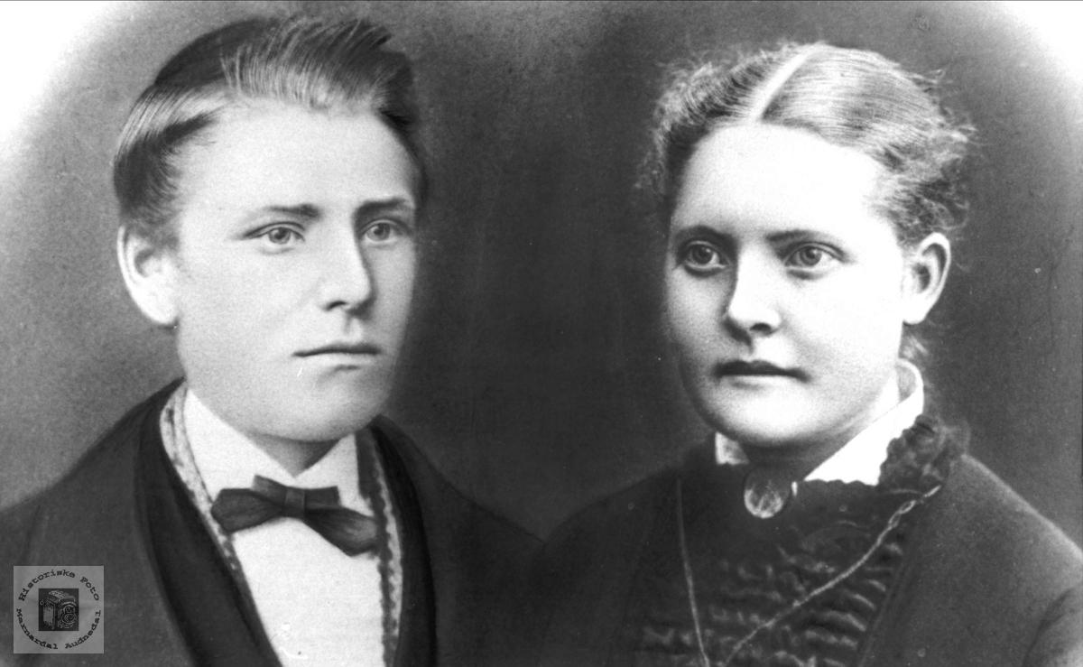 Portrett av Ole og Karen Oline Kleveland, Laudal.
