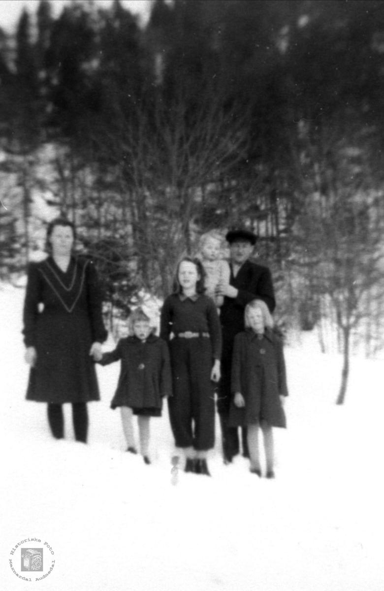 Familien Peder Laudal.