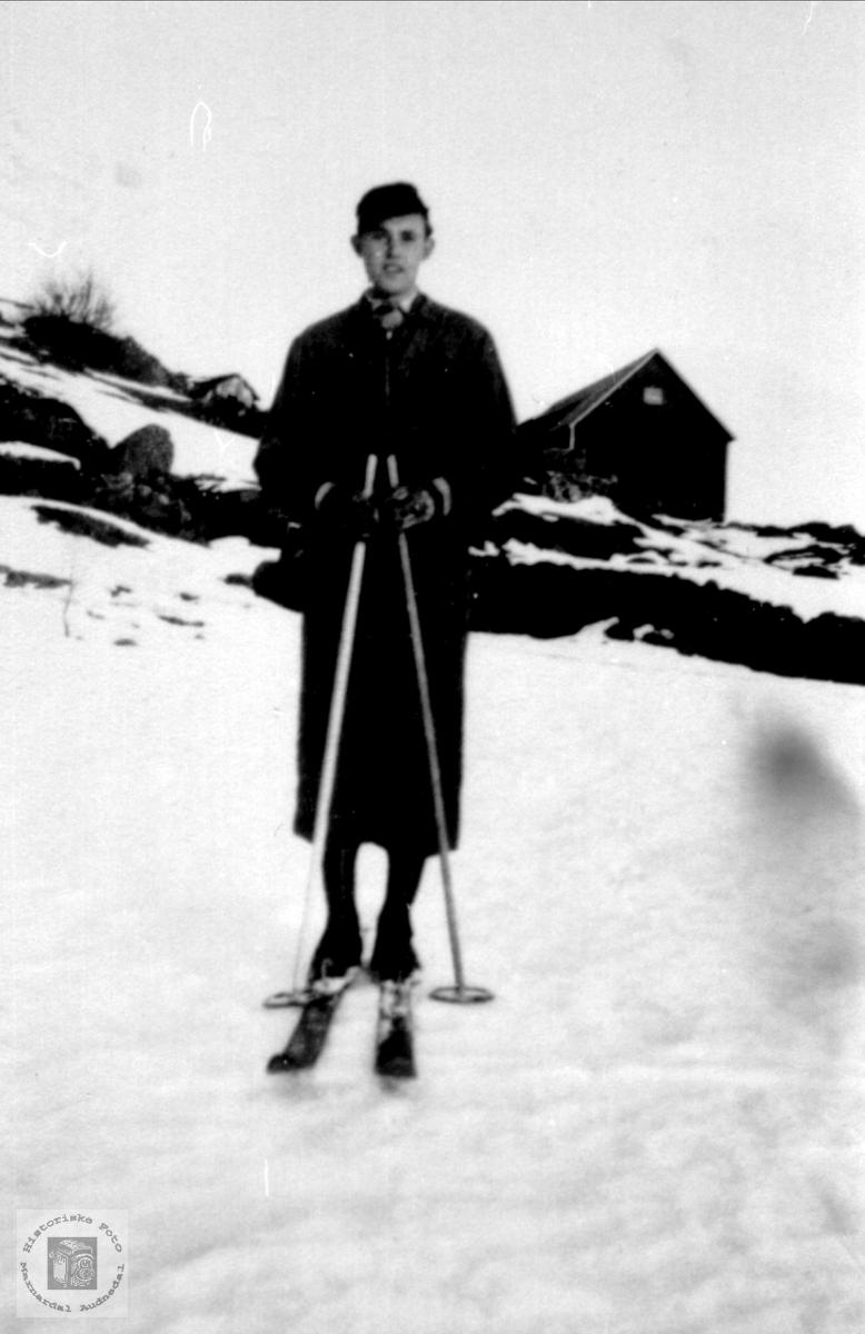 Portrett av  Ånen Tisland, Laudal.