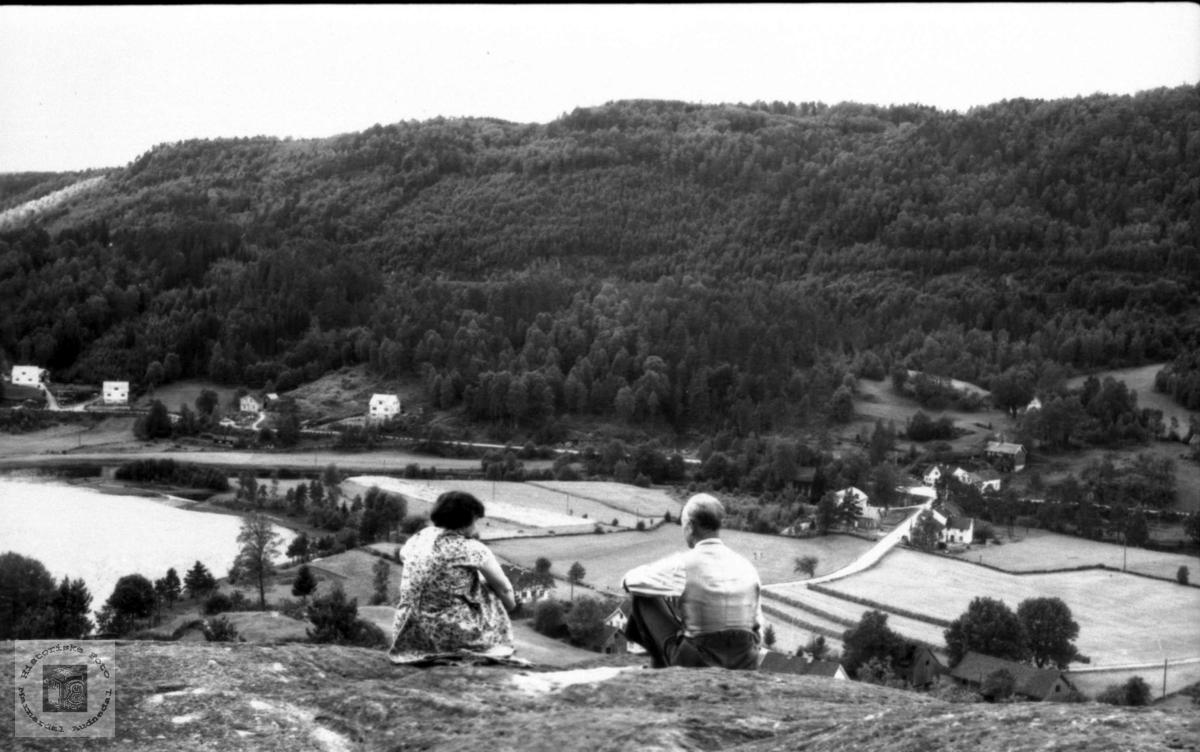 Laudalsgarden, sett fra Glasberget.