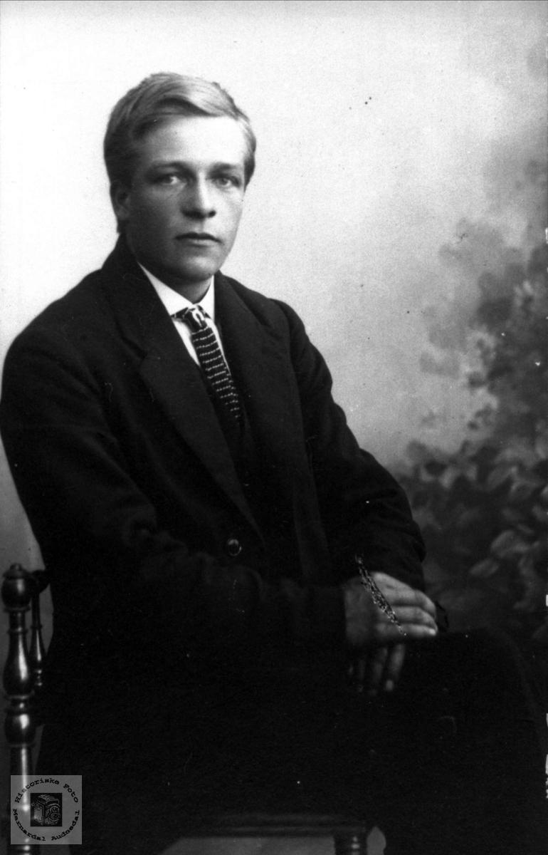 Portrett av Torval Emil Skogen 1896-1979, Øyslebø.