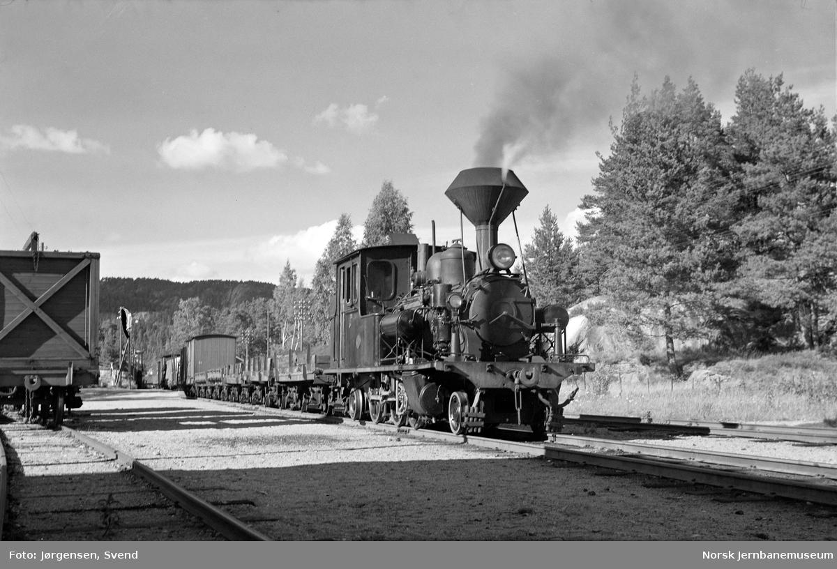 Damplokomotiv nr. 5 på Moisund stoppested
