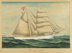 'Punctum' af Fredrikshald. Capt. A. A. Röd. 1912 [Akvarell]