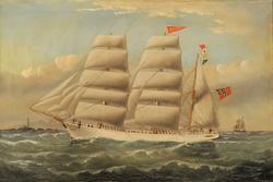 'Hippalos' of Lillesand Capt. G. O. Johnsen [Oljemaleri]