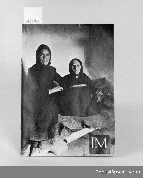 """594 Landskap BOHUSLÄN 394 Landskap SKÅNE  """"I M Rundbrev, Nr 197, 1966.  Årgång  22. Nr 2"""".  """"I M = Inomeuropeisk mission-individuell människohjälp"""".  UM 133:2"""