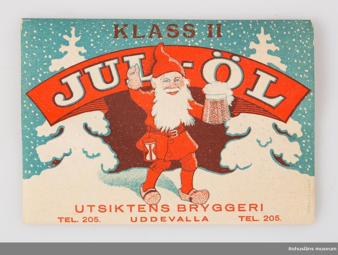 Julölsetikett från Utsiktens Bryggeri.