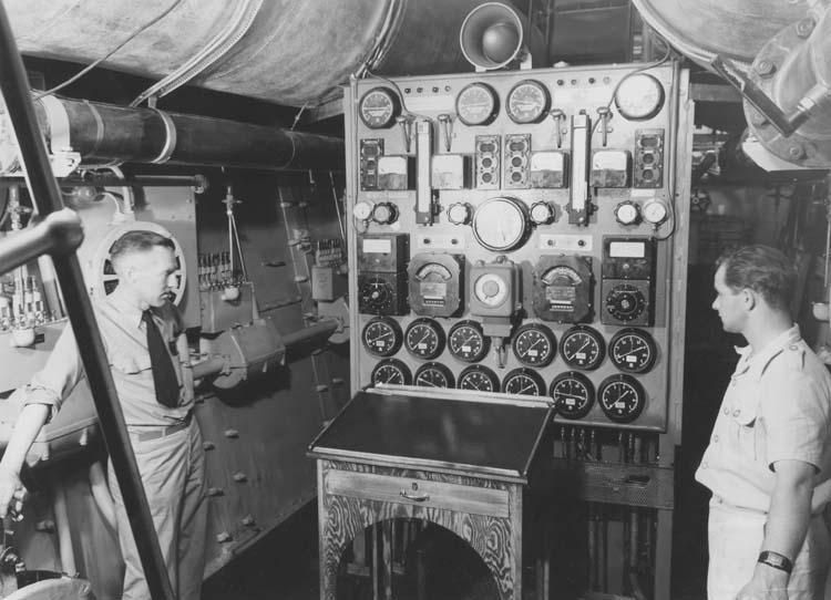 Interiör från fartyg 111 M/S Islas Malvinas, maskiner.