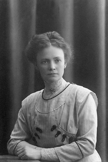 """Stämpel på framsidan: """"Atelier Svea, Karlshamn, Sölvesborg."""" Inpräglar på fotot: """"1913."""""""