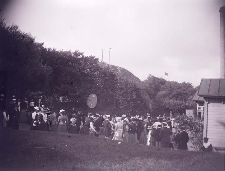 """Enligt text som medföljde bilden: """"Badhusplanen från Musikpaviljongen Bazar 28/7 1899."""""""