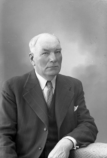 "Enligt fotografens journal nr 8 1951-1957: ""Berntsson, Herr Hilmer St. Askerön Här""."