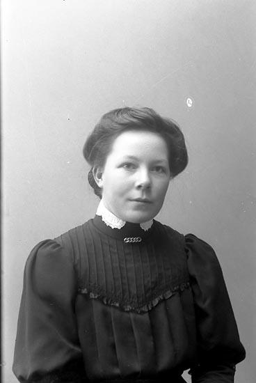 "Enligt fotografens journal nr 1 1904-1908 : ""Olsson, Edith Stenungsund""."