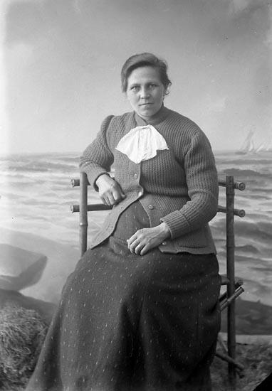 """Enligt fotografens journal nr 3 1916-1917: """"Ryberg, Olivia Källstorp Spekeröd""""."""
