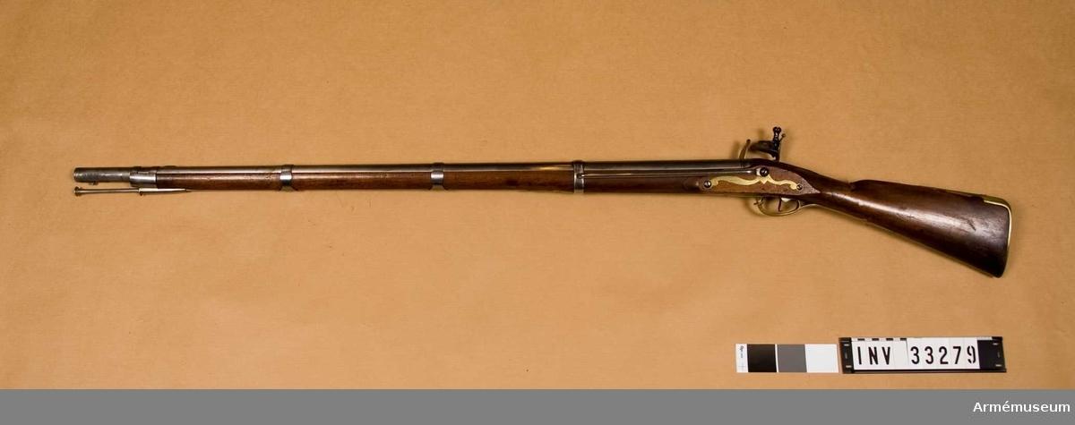 """Grupp E II. På kolven står """"110"""" och """"D 18"""". 1760-70-talet."""