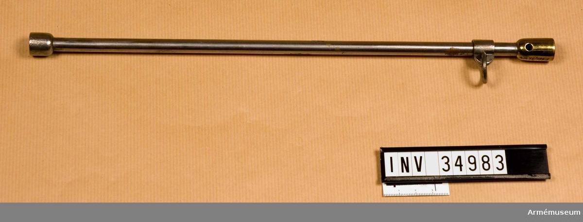 Grupp E III.  Samhörande nr 34982-3, pistol, laddstock.