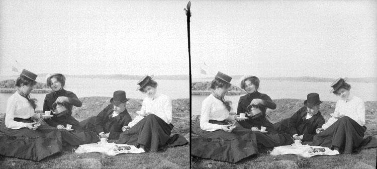 "3 Augusti 1902. 4 ""Landinar"" . (Stereo karta IV). Stereofoto."