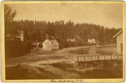 """Handskriven text på framsidan: """"Gustafsberg"""". """"1860"""".   """"-"""""""
