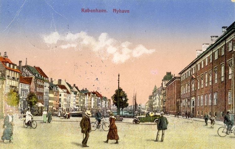 Notering på kortet: Köbenhavn. Nyhavn.