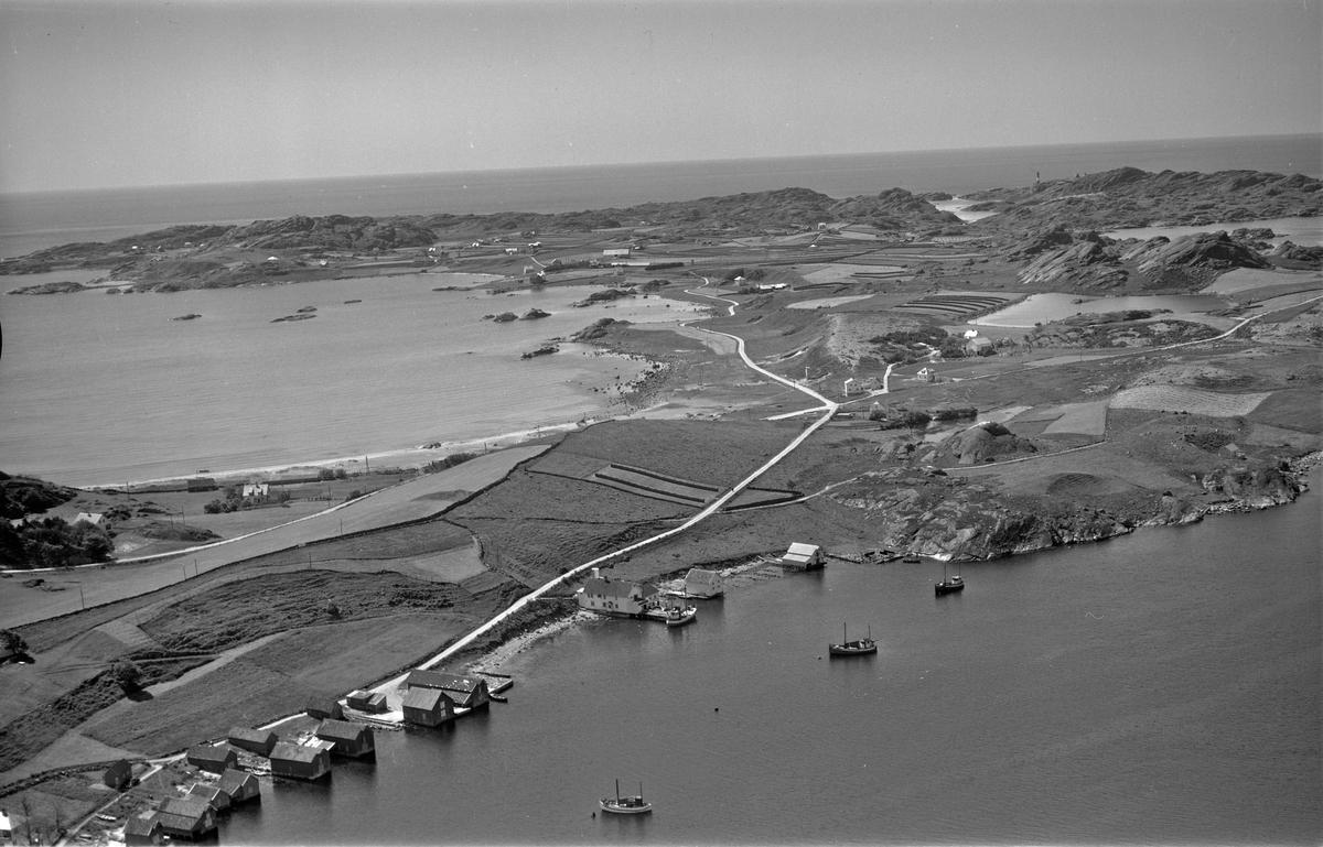 Skadberg, Skadbergstronda, Skadbergsanden, utsikt over Nordre Eigerøya