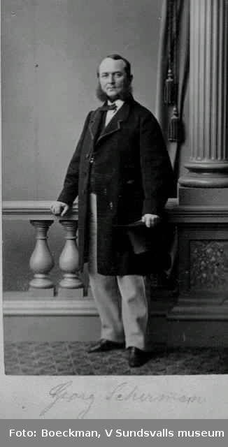 Georg Scherman, grosshandlare, vice konsul m m (f1816 d 1884)