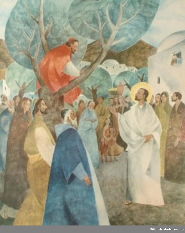 Kristendomskunskap.Jesus och Sakeus av Kaj & Per Beckman.Esselte, Stockholm 1949.